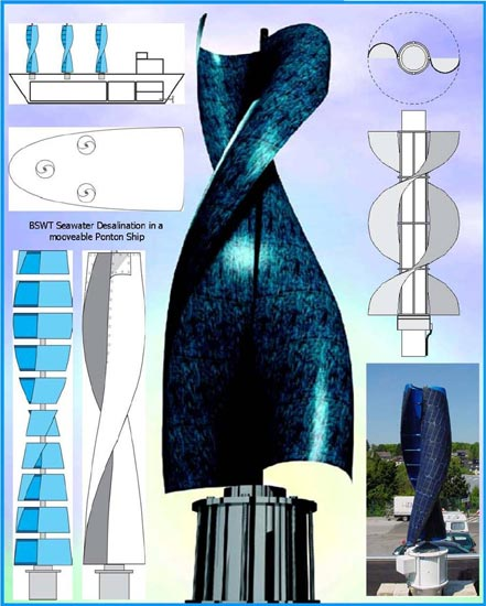 ... is a vertical wind turbine based on sailing engineering the wind rotor